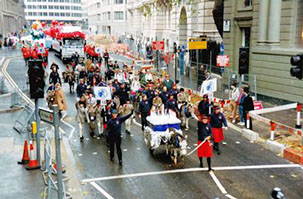 DBS - New years Day procession in London 2015