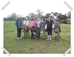 DBS - Group of young riders out with their donkeys